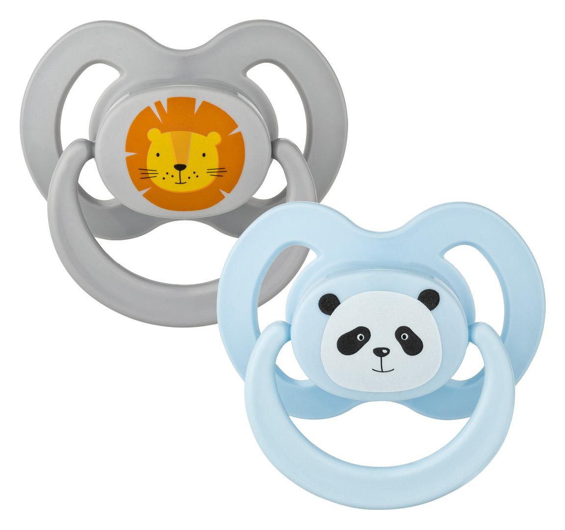 Schnuller Set Gr. 2 Löwe & Panda