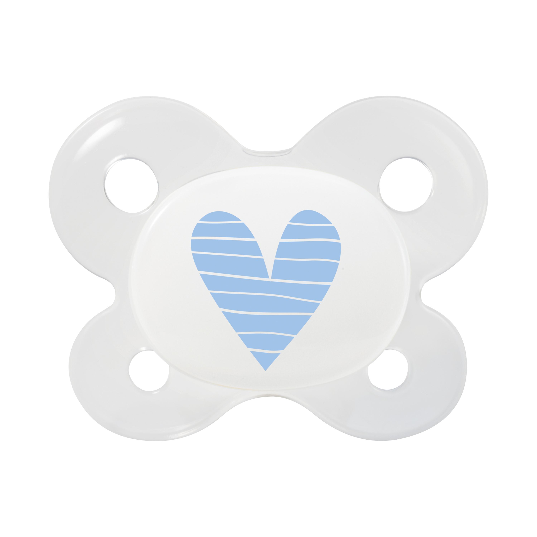 Neugeborenen Schnuller Herz blau