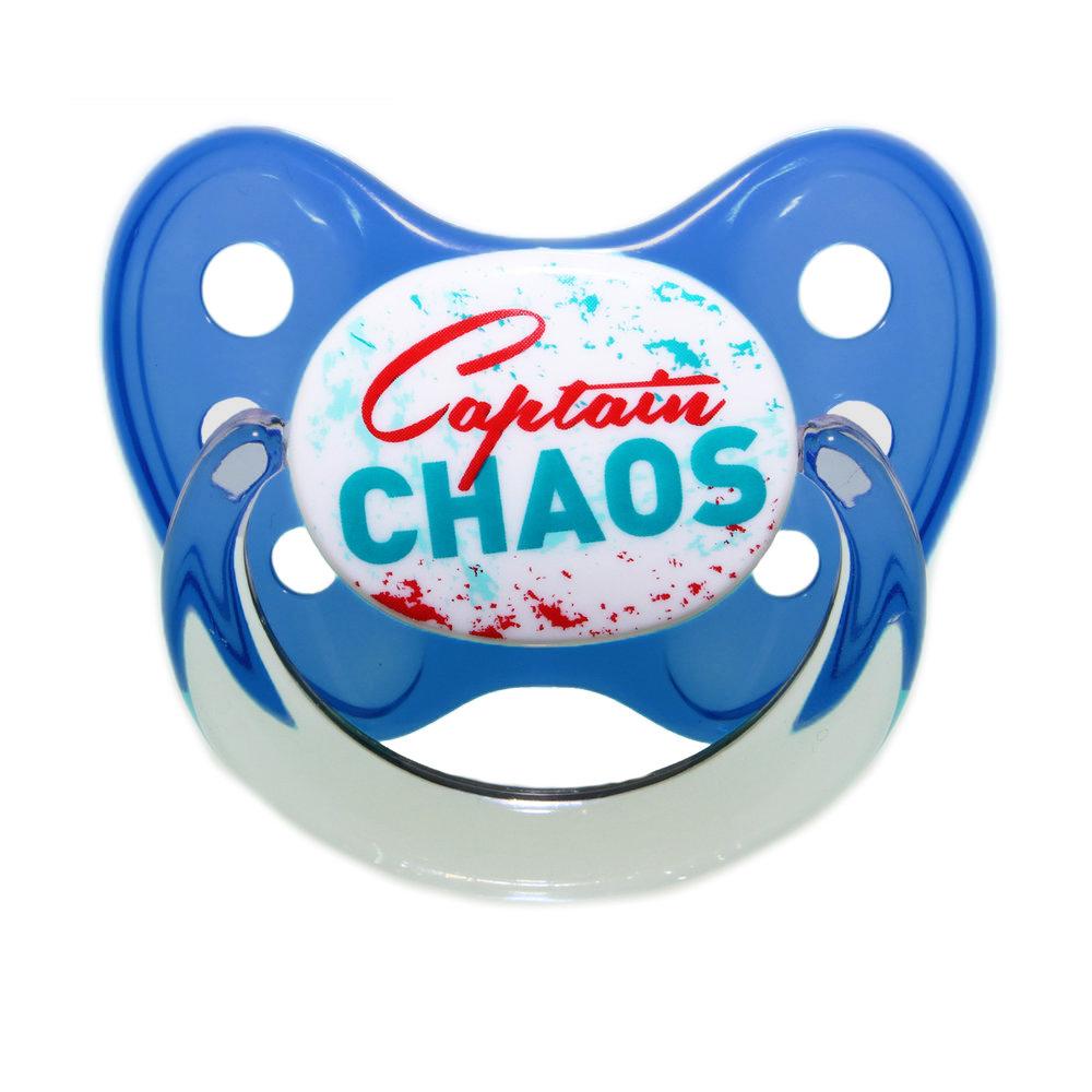 Schnuller Captain Chaos Blau