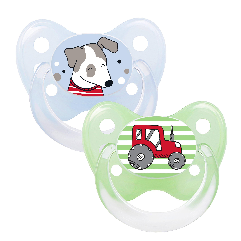 Schnuller 2er Set Hund & Trecker
