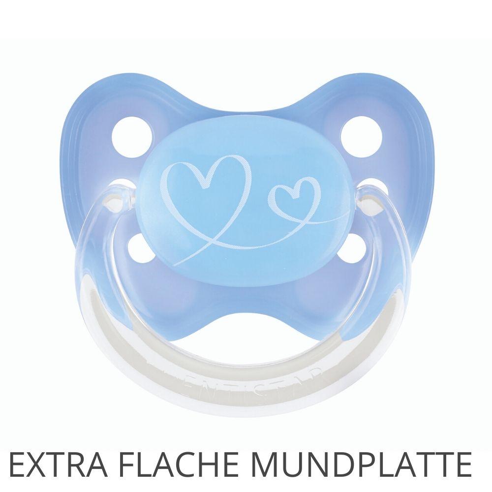 Flat Shield Schnuller Herzen Gr. 1