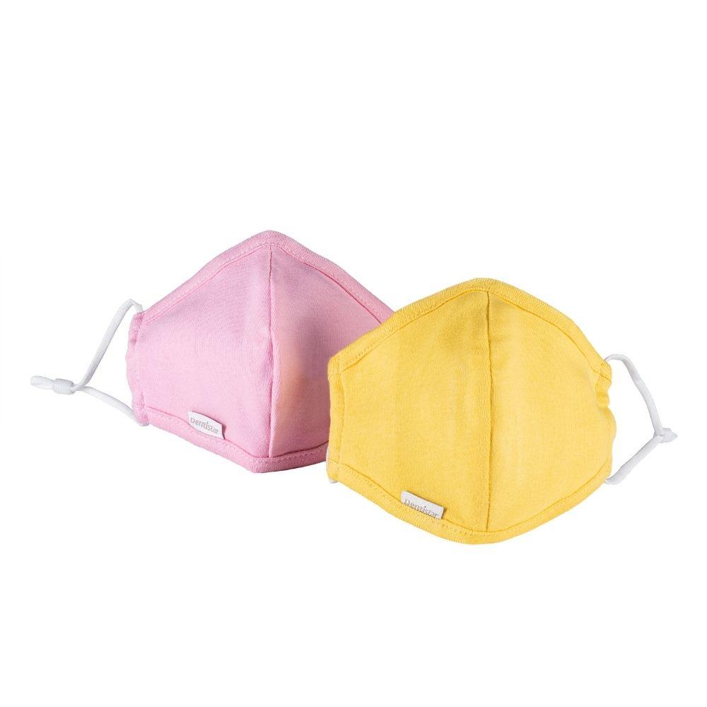 Stoffmaske 2er Set Pink und Gelb