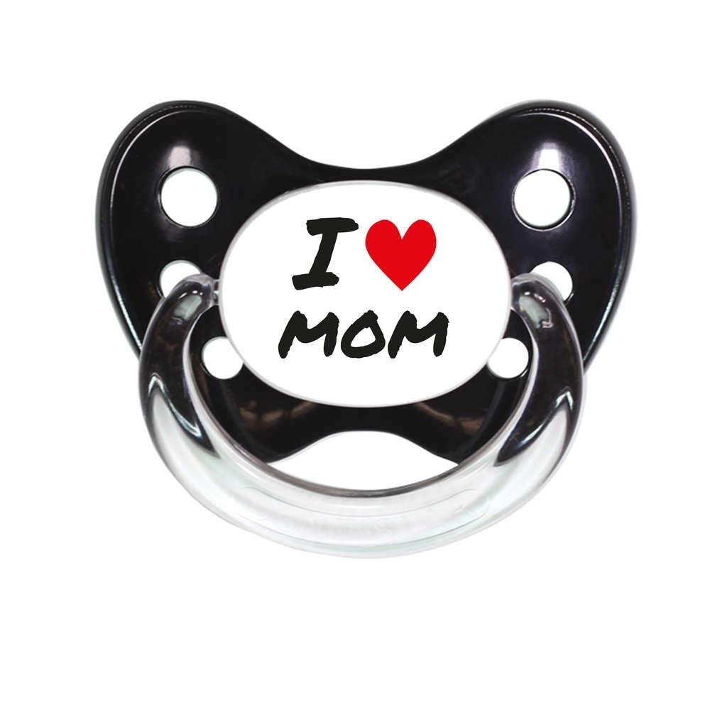 Schnuller I love Mom schwarz