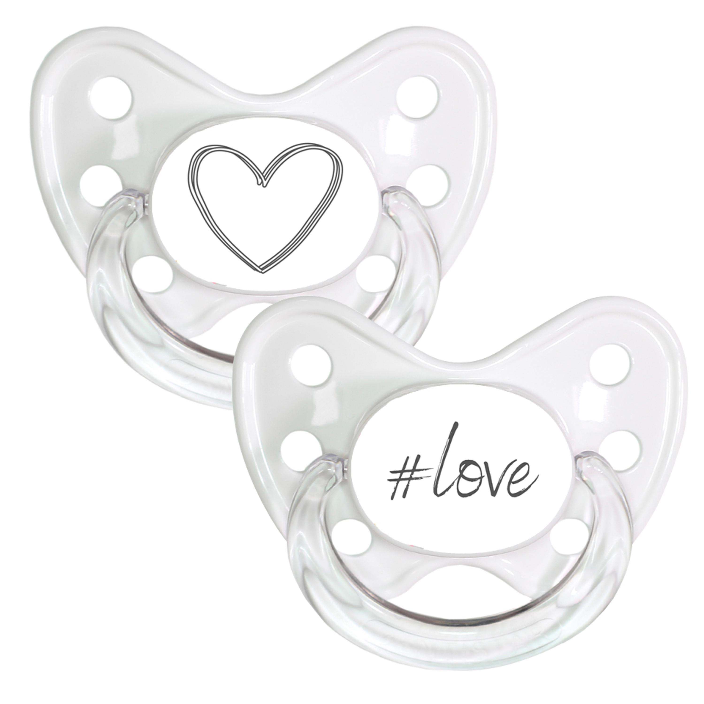 Schnuller Set Gr. 3 Herz & Love