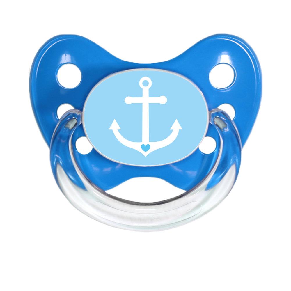Schnuller Anker blau