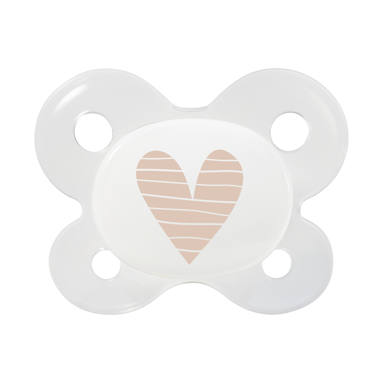Neugeborenen Schnuller Herz beige