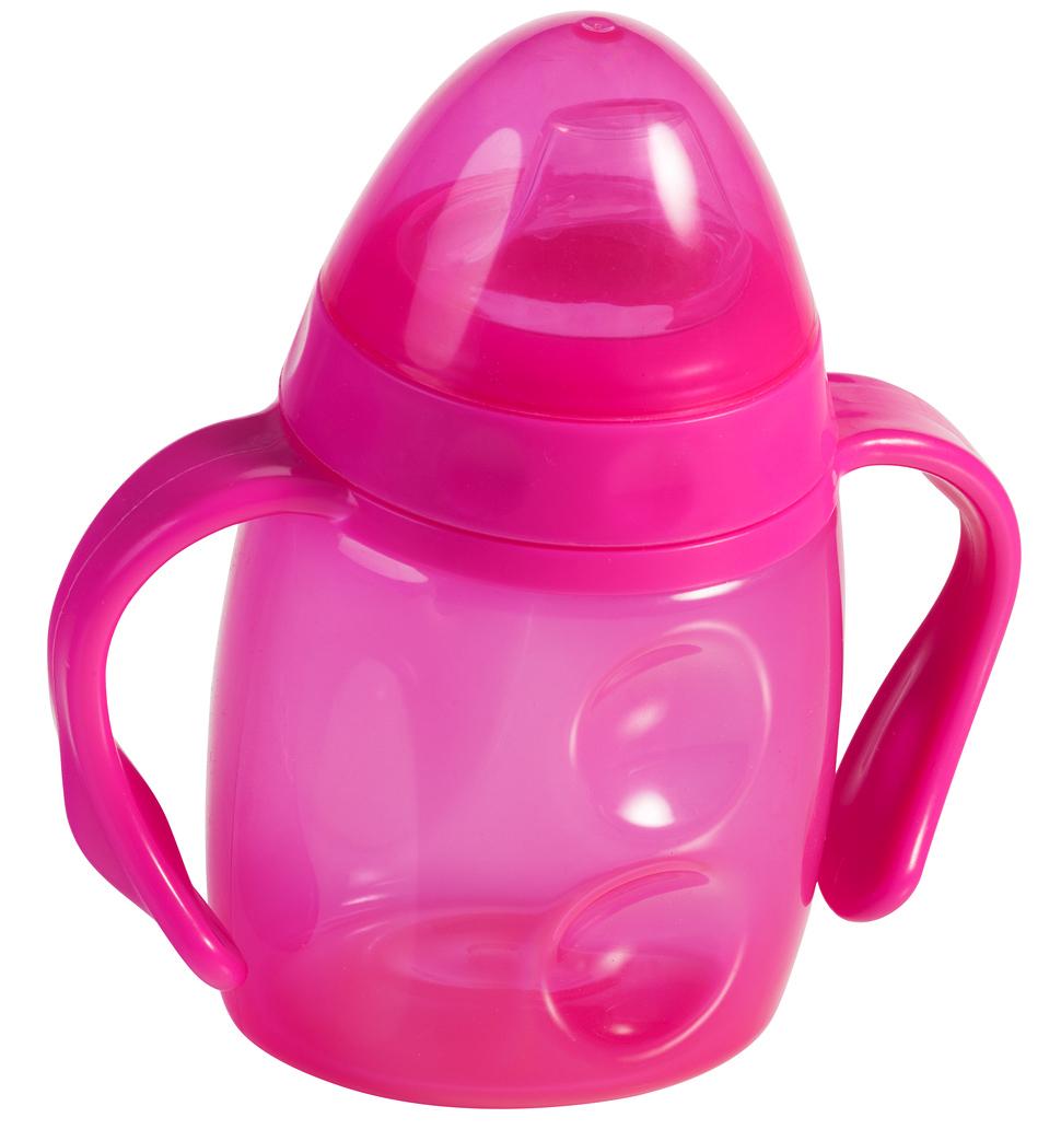 Trinklernbecher mit Griff pink