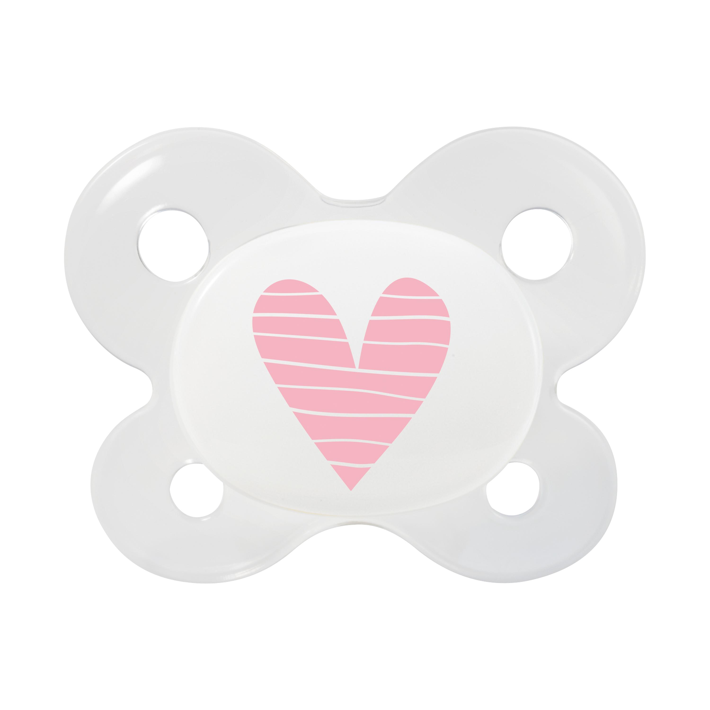 Neugeborenen Schnuller Herz rosa