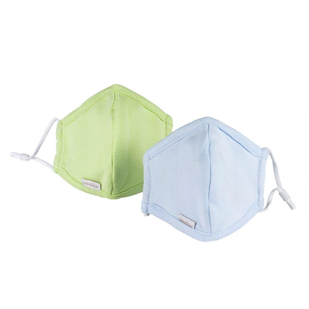 Stoffmaske 2er Set Blau und Grün